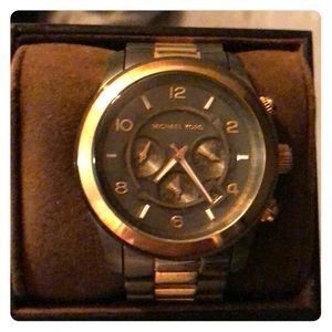 MK Runway Chronograph Two-tone Unisex Watch